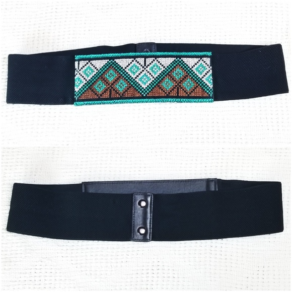 Accessories - Southwest Embroidered Wide Stretch Elastic Belt